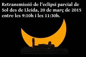 Emissió eclipsi 2015 Lleida