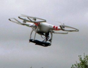 Dron amb telefon