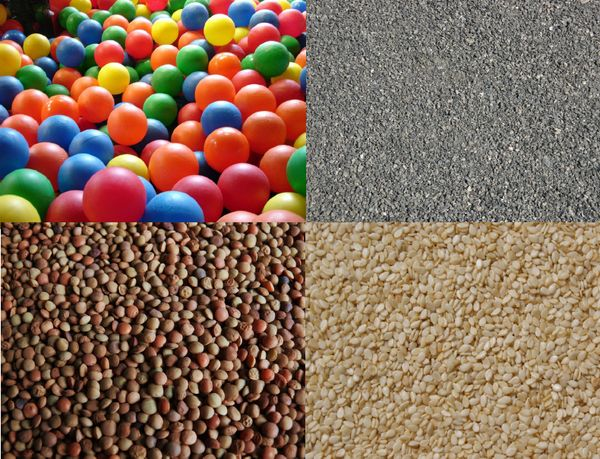 Exemples de materials granulars