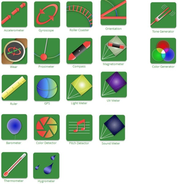 Physics Toolbox Apps