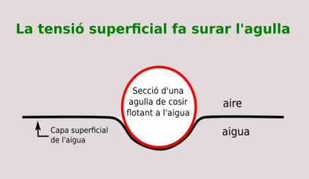 Tensio superficial agulla